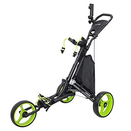 vilineke OneClick Chariot de golf pliable et léger à trois roues Vert