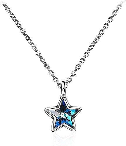 Necklace Men Necklace Women Pendant Fashion necklace Necklace with silver pendant for women The jewels come with holidays or birthday gift for pretty girls and five-branch glass star girls Necklace Bo