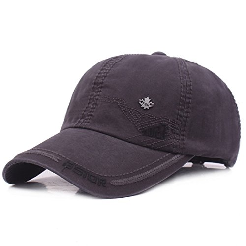 Kuyou Vintage Cotton Basecap Snapback Caps Outdoor Baseball Kappe Mütze, Grau, Einheitsgröße
