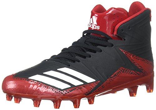 adidas Men's Freak X Carbon Mid Football Shoe, Black/White/Power RED, 10.5 Medium US