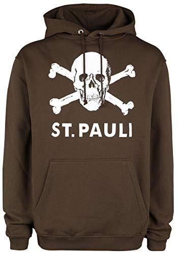 Sweatshirt à capuche Tête de mort marron, S