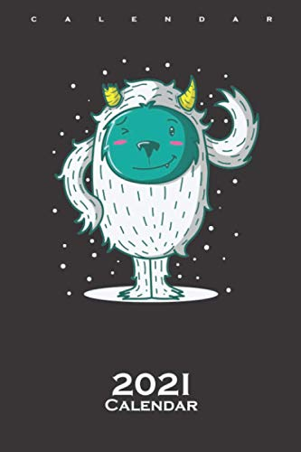 Yeti Ice monster breaks its horns Winter Calendar 2021: Annual Calendar for Friends of the cool and icy season