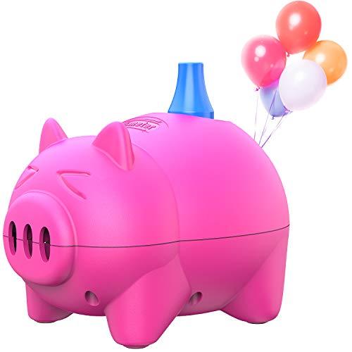Bomba de globos eléctrica. Inflador de globos portátil con forma de cerdito Dr.meter, ideal para fiestas, bodas, cumpleaños, actividades promocionales y decoración de festivales