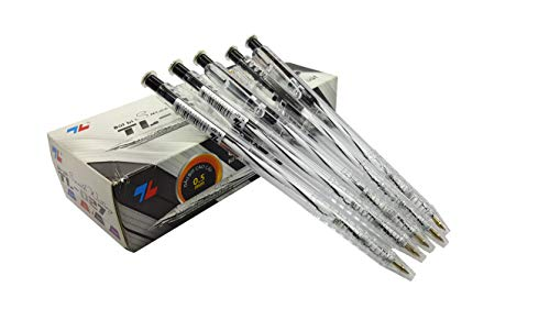 Box 20pcs ballpoint pen, black ink pen, retractable ballpoint pen, 0.5mm needle tip pen writing smooth, nice pen for gift Writing instruments best ballpoint pen quality pens desk pen stand