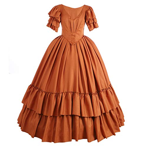 Fortunehouse Vestido medieval para mujer, vestido renacentista Marie Antonieta, vestido de bola para Halloween, disfraz de cosplay