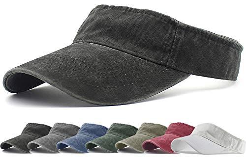 HH HOFNEN Sports Sun Visor Hats Twill Cotton Ball Caps for Men Women Adults Kids