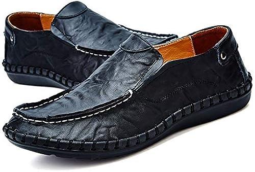 LOVDRAM Chaussures en Cuir pour Hommes Printemps Et été Chaussures Décontractées à La Main Tête Large 454647 Chaussures De Conduite en Cuir De Grande Taille pour Hommes