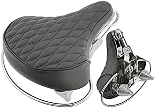 Lowrider Beach Cruisers Saddle Diamond Web Spring Black. Bike seat, bicycle seat, Bike part, bicycle part, beach cruiser seat, chopper fixie, road, mountain bike seat