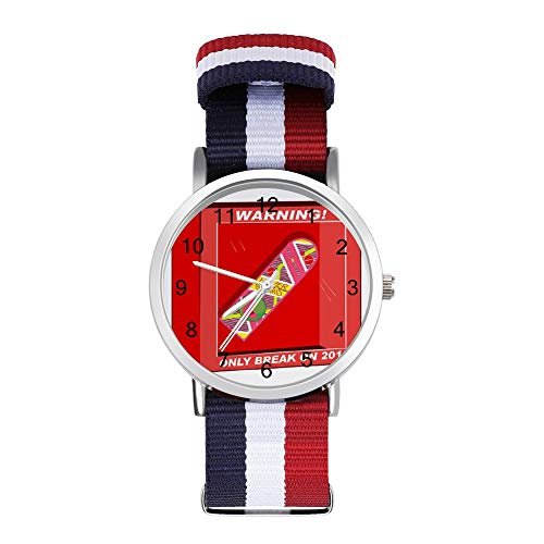 Back to The Future Hoverboard Break en 2015 Leisure Strap Relojes trenzados con escala