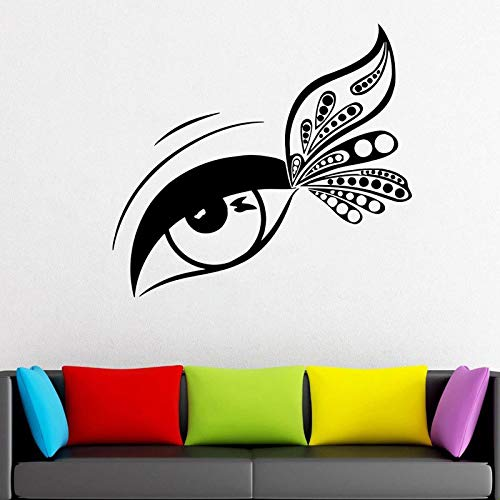 Wimper uitbreiding sticker venster vinyl sticker salon wimper mascara wenkbrauw behang make-up kamer sticker 93x85cm