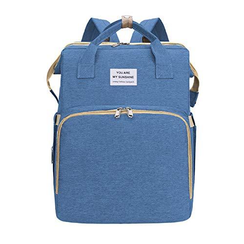 Alidear Windel Wickeltasche, faltbare Reise Krippe Säuglingsschläfer für Baby und Kleinkind (Blau)