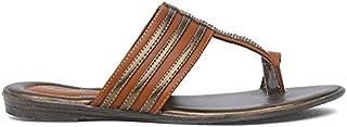 BATA Women's Swaroski Kolhapuri Fashion Slippers