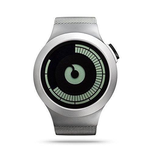 ZIIIRO Saturn Unisex Digital Uhren Chrom