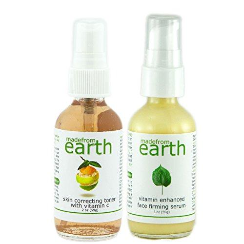2 Step Wrinkle Firming Set - Vitamin Firming Serum and Resurfacing Toner