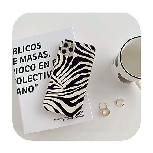 Phonecase - Carcasa para iPhone 12 11 12Pro 7 8Plus X XR Xsmax se Soft piel piel piel de leopardo, color negro