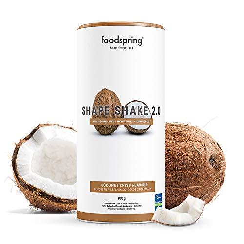 foodspring Shape Shake 2.0, Cocos Crisp, 900g, Mahlzeitenersatz zum Abnehmen*, Proteinreich, 24 Vitamine & Mineralien