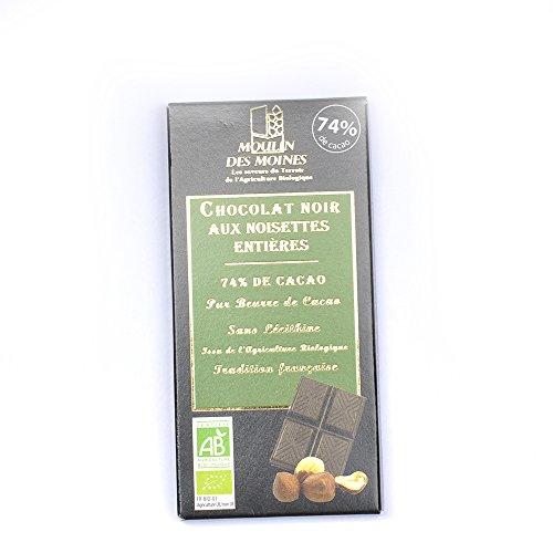 Moulin des moines - Chocolat noir aux noisettes entières 100G