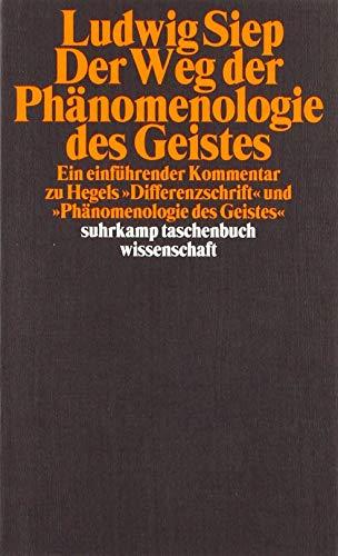Der Weg der Phänomenologie des Geistes. Ein einführender Kommentar zu Hegels 'Differenzschrift' und 'Phänomenologie des Geistes'