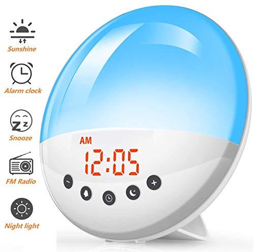 Wake Up Light Alarm Clock - Smart Sunrise Sunset Simulation
