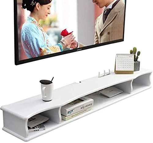 N/Z Mobilier de Maison Meuble TV Meuble TV Flottant étagère Rack Armoire multimédia Console de Divertissement boîte de télévision boîte de câble Meuble TV