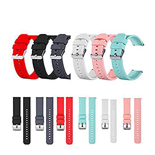 RuenTech - Pulsera compatible con Umidigi Uwatch 2/Umidigi Uwatch 2S/Umidigi Uwatch de silicona 22 mm de repuesto (6 colores)