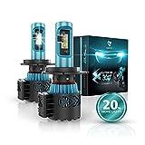 Glowteck 9003/H4 LED Headlight Bulbs Conversion Kit - CREE XHP50 Chip...
