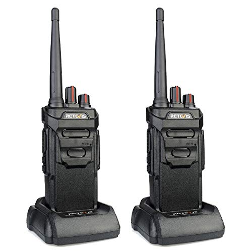 Retevis RT648 Funkgerät Wasserdicht IP67 Lizenzfrei 16 Kanäle CTCSS&DCS VOX Alarm PMR Funkgerät Set Wiederaufladbar USB Ladeschale Walkie Talkie(1 Paar, Schwarz)