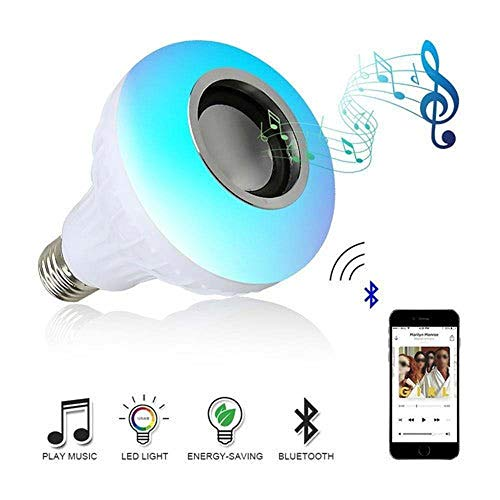 Amazing Deal HOT E27 Wireless Bluetooth Speaker + 12W RGB Bulb LED Light 110V 220V Smart led Light M...