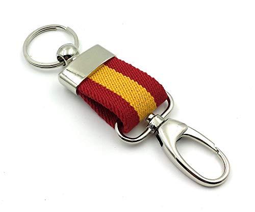 franartPiel - Llavero bandera de España lona Ubrique con...