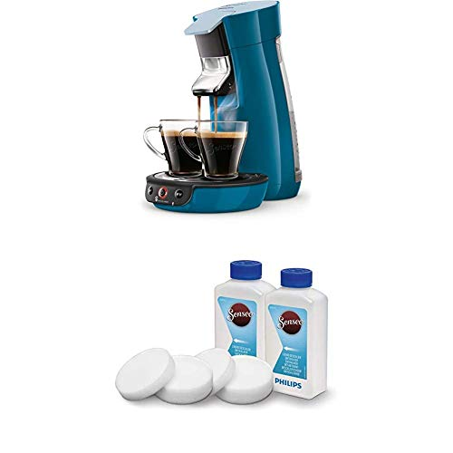 Philips Senseo Viva Cafe HD6563/70 Kaffeepadmaschine (Crema plus, Kaffee-Stärkeeinstellung) blau, mit Flüssigentkalker