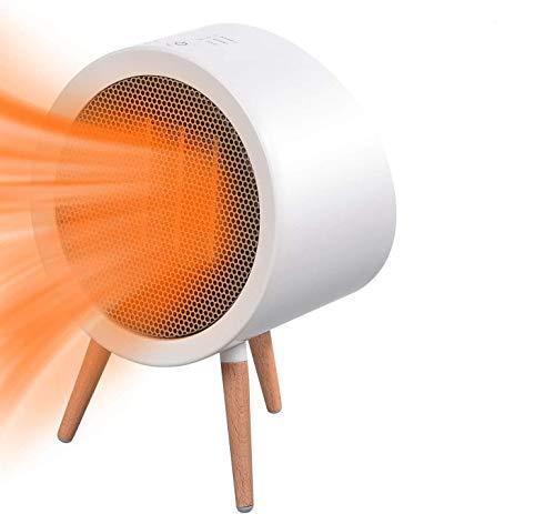 Termoventilatore Ceramica 800W, URAQT Mini PTC Stufa Elettrica Riscaldamento, 3 Livelli di...