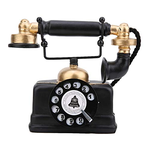 Haofy Accesorio de teléfono Antiguo Retro Giratorio con Cable Old Fashion Teléfono...