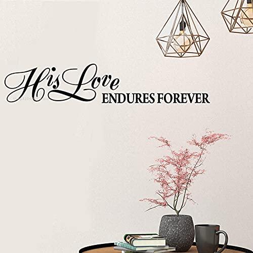SSCLOCK Biblia Pegatinas de Pared su Amor para Siempre Apliques inspiradores decoración del hogar Dormitorio Sala de Estar Hecho a Mano 95x19cm