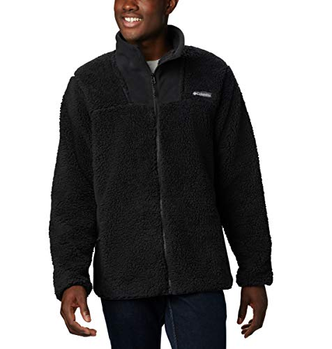 Columbia Men's Winter Pass Fleece Full Zip Jacket, Winter Fleece, Small, Black
