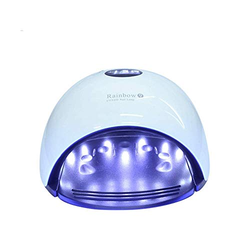Appareil de photothérapie à ongles Séchoir à ongles - Lampe pour machine de thérapie par induction de clous de minuterie 48W Sunlight Intelligent Sunlight (Couleur : Bleu)