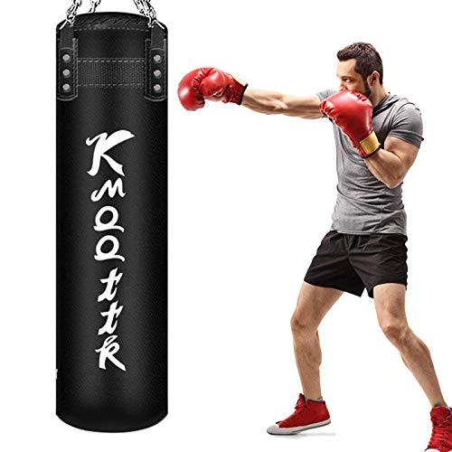 Boxsack Für Das Boxtraining, Boxset Gefüllter Schwerer Boxsack, Boxsack Mit Kette, Für Kickboxen, Muay Thai, Karate, BJJ & Taekwondo, Heim & Fitnessstudio(Size:100cm)