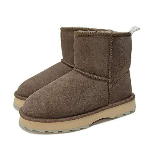 [エミュー] ムートンブーツ W12434 Mushroom US/W7(24.0) 撥水 厚底 シャーキー ミニ Sharky Mini シープスキンブーツ ショートブーツ ムートン ブラック レディース 靴 ブーツ Australia