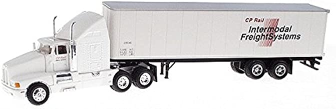 Ho 1:87 Tractor and Trailer Cp Rail Intermodel Frieght Systems Diecast and Turotuff ABS Construction