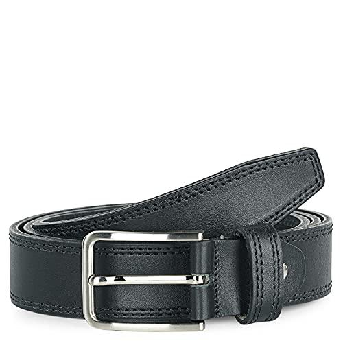 Jaslen - Cinturón de cuero Piel genuina. Hebilla pasador sencillo. Cómodo flexible...