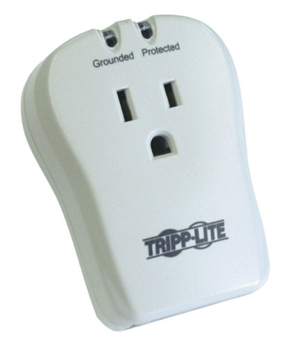 Tripp Lite 1 Outlet Portable Surge Protector Power Strip, Direct Plug in, Tel/Modem Protection, $10,000 Insurance (TRAVELCUBE)