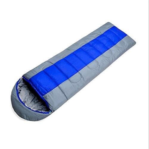 CATRP Un Sac de Couchage Respirant Peut être Cousu pour Un Camping en Plein air pour Adultes de Style enveloppe léger (Color : Blue)