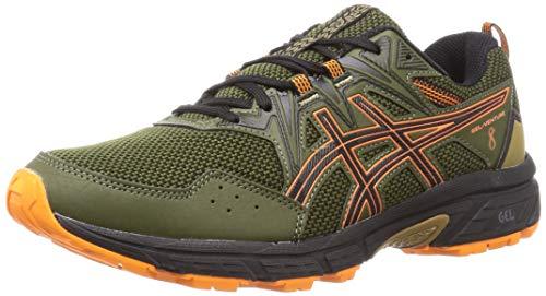 Asics Gel-Venture 8, Zapatos para Correr Hombre, Smog Green/Orange Cone, 46.5 EU