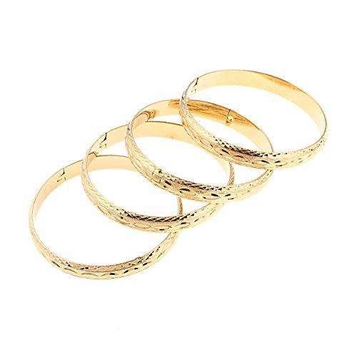 24 K Gold Farbe Dubai Äthiopisch arabisch afrikanische Armbänder Armreifen Hochzeit Brautschmuck