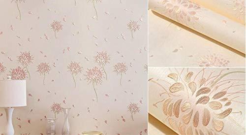 kengbi Leicht, beliebte dauerhafte Tapeten zu dekorieren Pastoral 3D Löwenzahn Tapete Wohnzimmer Schlafzimmer TV Hintergrund Flower Wallpaper Rollentapeten Home Decor Floral Wall Paper