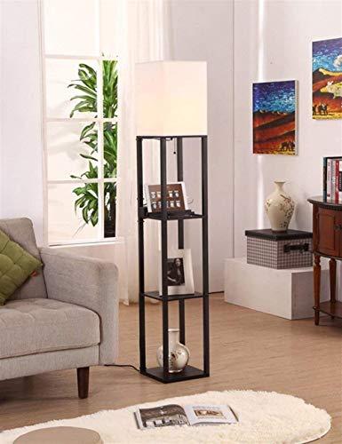 YUQIYU De pie luminarias Woody paño vertical moderna simplicidad dormitorio de pie luminarias for el bulbo de estar Sala de Estudio Incluyó