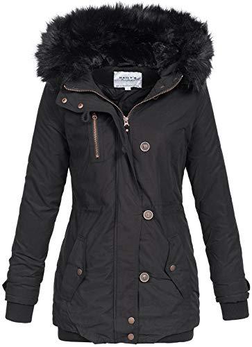 Hailys Damen Parka Winterjacke Romi Fellkapuze STL-0161214 Black M