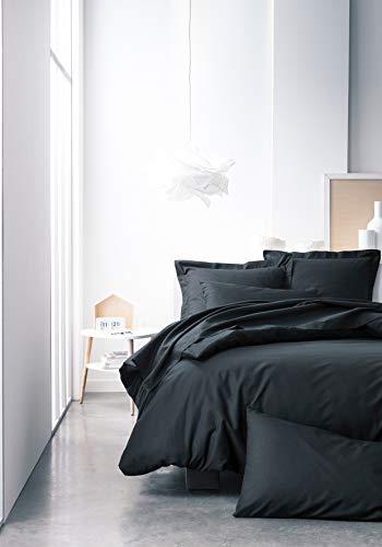 Today 106117 Drap Housse Jersey - 100% Coton - Réglisse - 140x190 cm