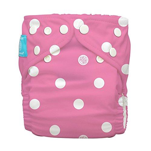 Charlie Banana One Size Pocket pañales Polka Dots on Hot Rosa–One Size plástico reutilizables Pañales, Newborn hasta orinal Entrenamiento