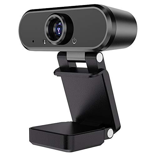 Diommest 1080p Full HD-webcam, Beauty USB Computer Desktop Laptop met microfoon live Portret Video Webcam, Capture Class Conference Video Chat Online Leren Compatibel met Windows