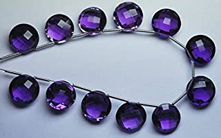 Jewel Beads Natural Beautiful jewellery 5 Match Pair,PURPLE AMETHYST Quartz Faceted Coins Briolettes 10mm SizeCode:- JBB-31395